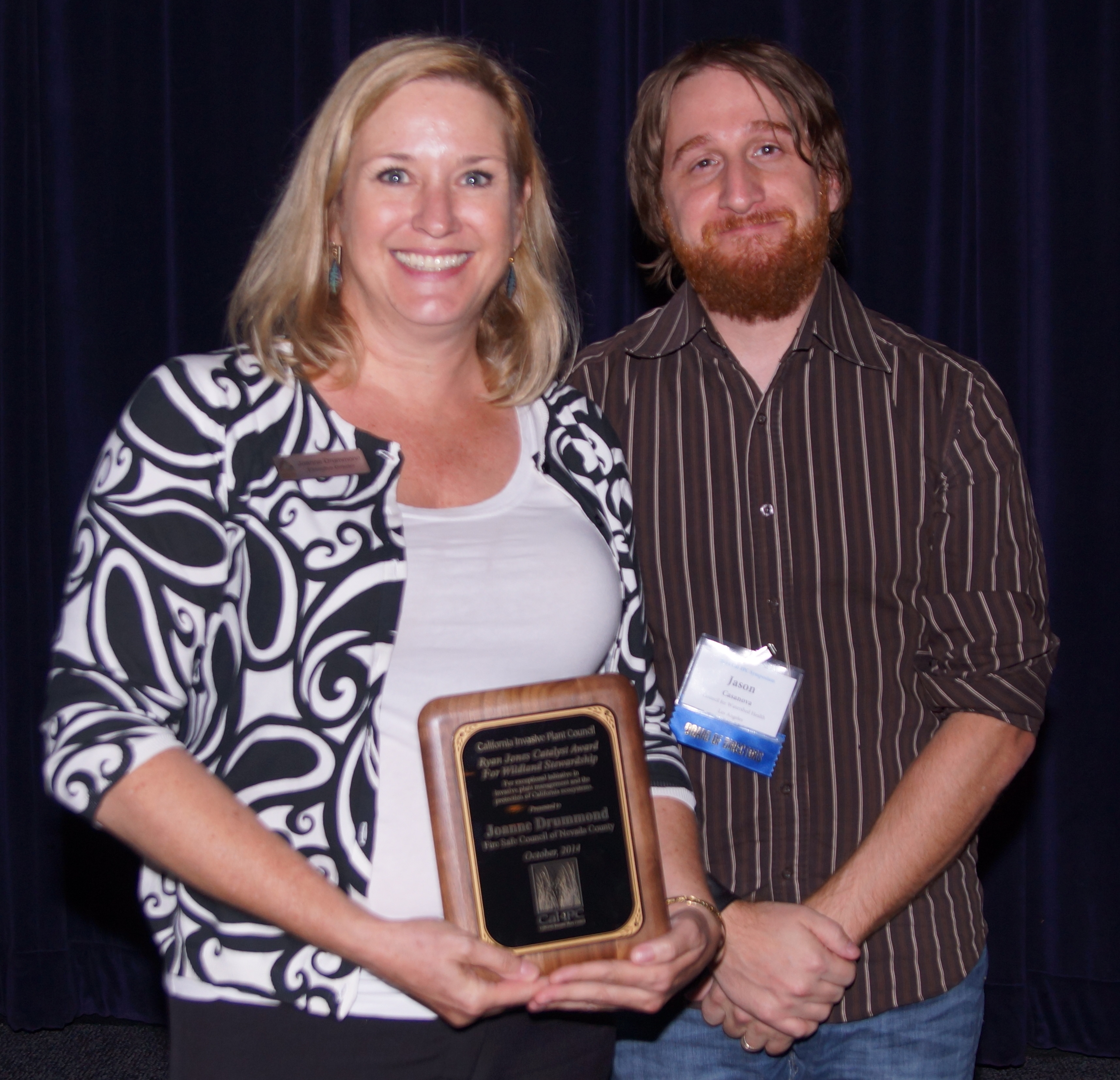 Joanne Drummond received the 2014 Ryan Jones Catalyst Award.