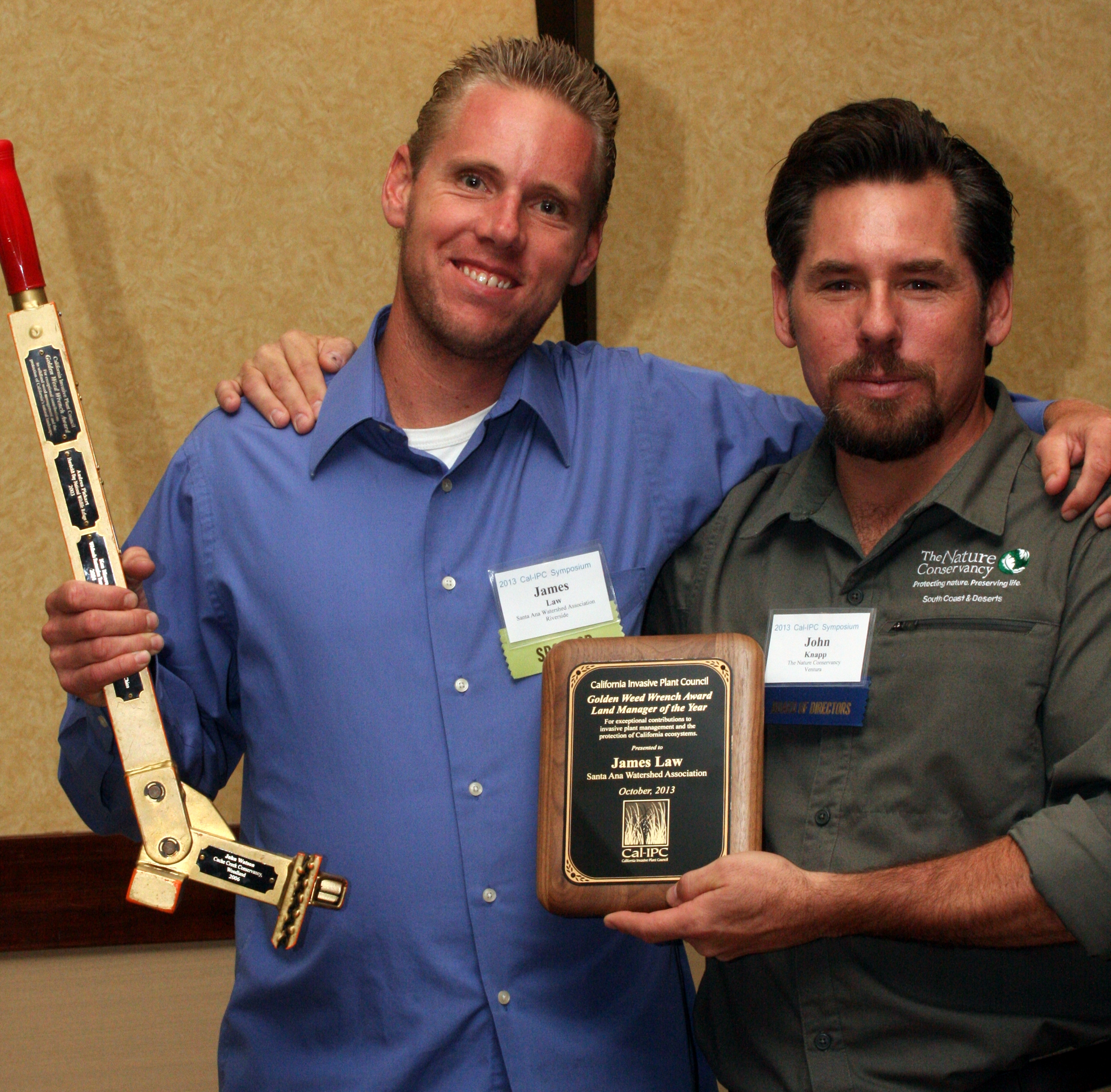 James Law, 2014 recipients of Golden Weed Wrench. Photo: Bob Case