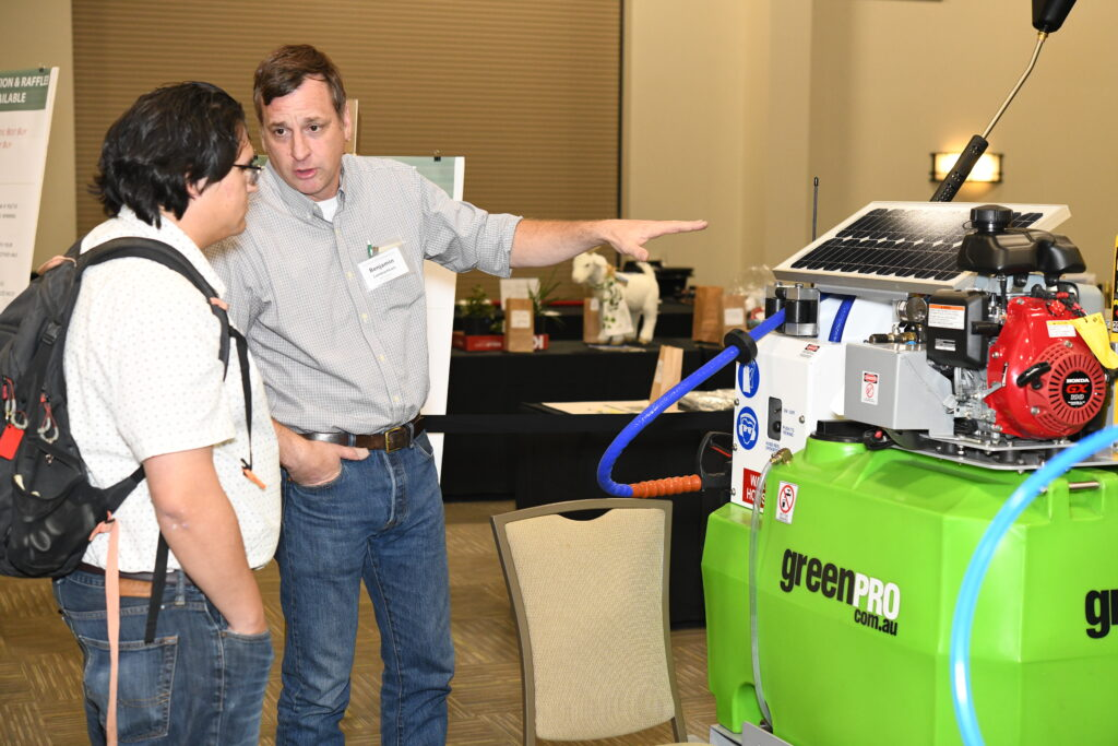 Sponsors demonstrate their equipment and engage with attendees during the dedicated poster and exhibit session. Photo: Bill Hoyer