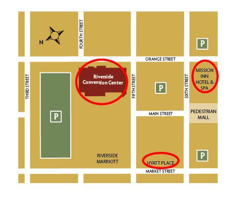 Riverside Convention Center 2019 Symposium Detail Map