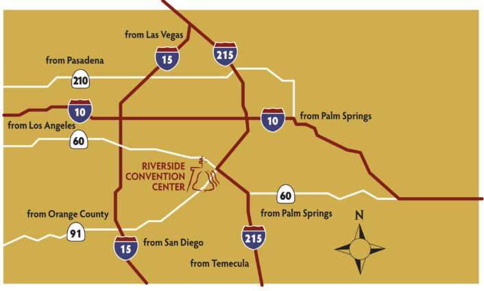 Riverside Convention Center Freeways Map