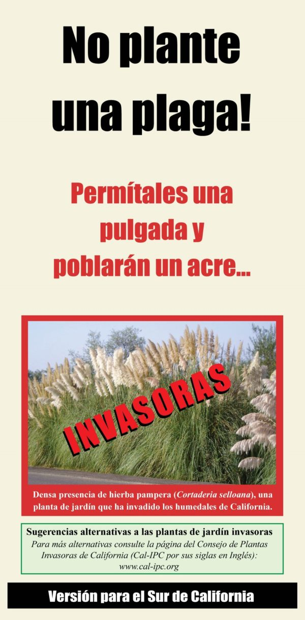 Don't Plant a Pest Southern California Spanish Brochure